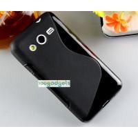 Силиконовый S чехол для Samsung Galaxy Core 2 Черный