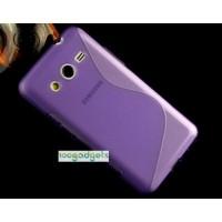 Силиконовый S чехол для Samsung Galaxy Core 2 Фиолетовый