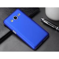 Пластиковый матовый металлик чехол для Samsung Galaxy Core 2 Синий