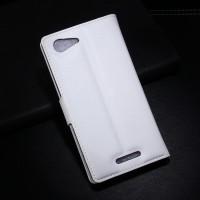Чехол портмоне подставка с защелкой для Sony Xperia E3 Белый