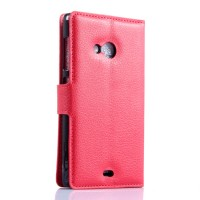 Чехол портмоне подставка с защелкой для Microsoft Lumia 535 Красный