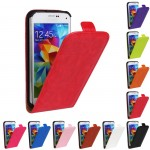 Чехол вертикальная книжка на силиконовой основе с магнитной застежкой для Samsung Galaxy S5 Mini