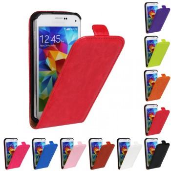 Чехол вертикальная книжка на пластиковой основе с магнитной застежкой для Samsung Galaxy S5 Mini