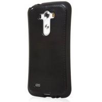 Силиконовый чехол с эффектом прошитой кожи для LG Optimus G3 Черный