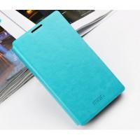 Чехол флип подставка водоотталкивающий для Microsoft Lumia 435 Голубой