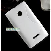 Силиконовый S чехол для Microsoft Lumia 435 Белый