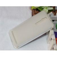 Силиконовый матовый полупрозрачный чехол для Asus Zenfone 2 Белый