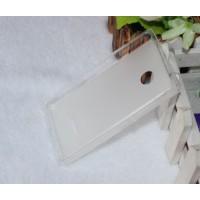 Силиконовый матовый полупрозрачный чехол для Microsoft Lumia 532 Белый