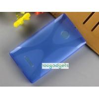 Силиконовый X чехол для Microsoft Lumia 532 Синий