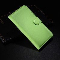 Чехол портмоне подставка с защелкой для Alcatel One Touch Idol 2 Зеленый