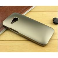 Пластиковый чехол серия Metallic для HTC One mini 2 Бежевый