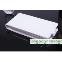 Чехол вертикальная книжка на силиконовой основе с магнитной застежкой для Lenovo A328 Белый