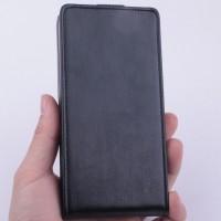Чехол вертикальная книжка на силиконовой основе с магнитной застежкой для Lenovo A526 Черный