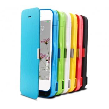 Чехол флип/экстра аккумулятор (4200 мАч) с функцией подставки для Iphone 5s/SE