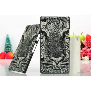 Пластиковый матовый дизайнерский чехол с принтом для Sony Xperia Z1