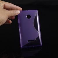Силиконовый S чехол для Microsoft Lumia 435 Фиолетовый