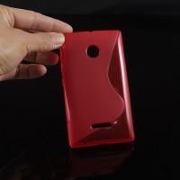 Силиконовый S чехол для Microsoft Lumia 435 Красный