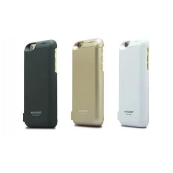 Пластиковый чехол/экстра аккумулятор (5600 мАч) с подставкой и функцией дополнительного заряда внешних устройств для Iphone 6