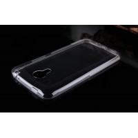 Силиконовый ультратонкий матовый полупрозрачный чехол с нескользящими гранями для Meizu M1 Note Белый