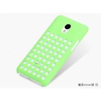 Пластиковый дизайнерский чехол с отверстиями для Meizu M1 Note Зеленый