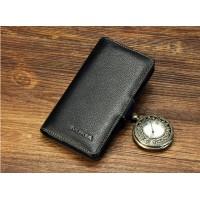 Чехол портмоне из нат. кожи с магнитной защёлкой для Nokia Lumia 930 Черный