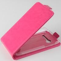 Чехол вертикальная книжка на пластиковой основе с магнитной застежкой для Alcatel One Touch Pop C5 Пурпурный
