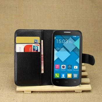 Чехол портмоне подставка с защелкой для Alcatel One Touch Pop C5