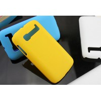 Пластиковый матовый непрозрачный чехол для Alcatel One Touch Pop C5 Желтый