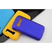 Пластиковый матовый непрозрачный чехол для Alcatel One Touch Pop C5 Синий