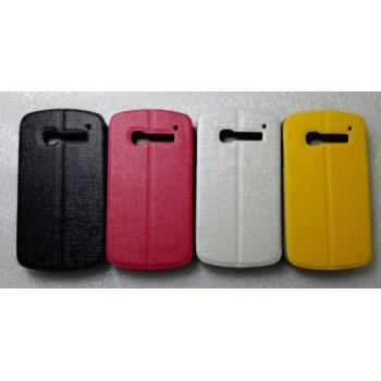 Чехол флип подставка текстурный на пластиковой основе для Alcatel One Touch Pop C5