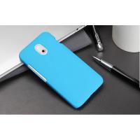 Пластиковый чехол серия Metallic для HTC Desire 210 Голубой