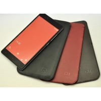 Кожаный мешок для Xiaomi RedMi Note