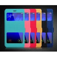 Чехол флип подставка на силиконовой основе с окном вызова и свайпом для Xiaomi Mi Note