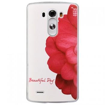 Пластиковый чехол принт роза для LG Optimus G3