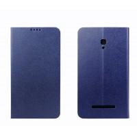 Чехол флип подставка на пластиковой основе с внутренним карманом для Alcatel One Touch Pop S9 Синий