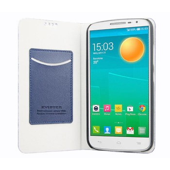 Чехол флип подставка на пластиковой основе с внутренним карманом для Alcatel One Touch Pop S9