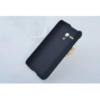 Пластиковый матовый непрозрачный чехол для Alcatel One Touch Pop D5 Синий