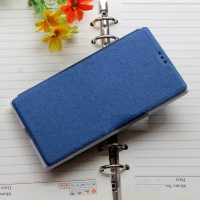 Текстурный чехол флип подставка для ZTE Blade L2 Синий