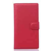 Чехол портмоне подставка с защелкой для ZTE Blade L2 Красный