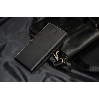 Кожаный чехол вертикальная книжка на пластиковой основе с магнитной застежкой для ZTE Blade L2 Черный