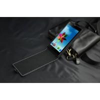 Кожаный чехол вертикальная книжка на пластиковой основе с магнитной застежкой для ZTE Blade L2