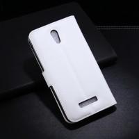 Чехол портмоне подставка с защелкой для Alcatel One Touch Pop S7 Белый