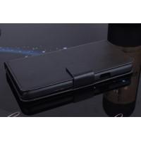 Чехол портмоне подставка на пластиковой основе с магнитной защелкой для Explay Fresh Черный