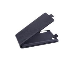 Чехол вертикальная книжка на пластиковой основе с магнитной застежкой для Explay Fresh Черный