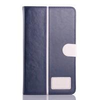 Чехол флип подставка на силиконовой основе с отделениями для карт и магнитной застежкой для планшета Asus FonePad 8 Синий
