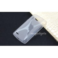 Силиконовый чехол Х для LG L80 Белый