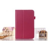 Чехол подставка с рамочной защитой серия Full Cover для Asus FonePad 8 Пурпурный