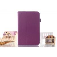 Чехол подставка с рамочной защитой серия Full Cover для Asus FonePad 8 Фиолетовый