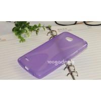 Силиконовый чехол Х для LG L80 Фиолетовый