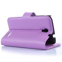 Чехол портмоне подставка с защелкой для Alcatel One Touch Pop 2 (4.5) Фиолетовый